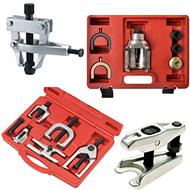 Įrankiai važiuoklės remontui:vairo traukių/šarnyrų nuėmėjai/kiti įrankiai važiuoklei