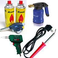 Lituokliai/  kaitintuvai dujiniai/  elektriniai/ dujinės lempos