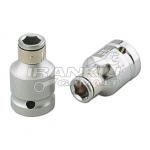 """Adapteris iš 1/2"""" į 1/4"""" antgalį (6,3mm) L-38mm (BH-A406)"""