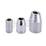 """Adapteris iš 1/4 į 1/4"""" antgalį (6,3mm) L-25mm (BH-AN206)"""