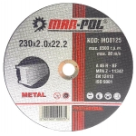 Pjovimo diskas metalui 230x2.0mmx22.2 mm (M08125)