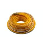 Žarna PVC su žalvarinėmis jungtimis geltona (10x16mm), 15m (PH1015)