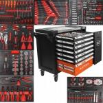 Įrankių spintelė BJC 7 stalčiai su 306 įrankiais, DIN3113 (M66598)
