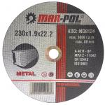 Pjovimo diskas metalui 230x1.9x22.2mm (M08124)